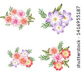 flowers set. collection of... | Shutterstock . vector #1416955187