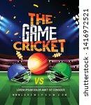cricket championship batsman... | Shutterstock .eps vector #1416972521