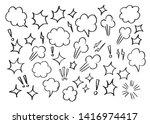 vector bubbles speech set. hand ... | Shutterstock .eps vector #1416974417