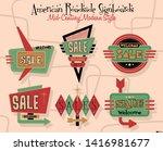 mid century modern design...   Shutterstock .eps vector #1416981677