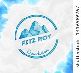 fitz roy logo. round expedition ... | Shutterstock .eps vector #1416989267