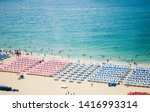 sea beach blue sky sand sun... | Shutterstock . vector #1416993314
