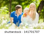 happy mother  father and...   Shutterstock . vector #141701707