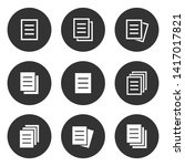 document icon set. simple... | Shutterstock .eps vector #1417017821