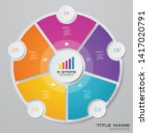 5 steps cycle chart... | Shutterstock .eps vector #1417020791