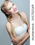 beauty wedding hairstyle. bride.... | Shutterstock . vector #141702169