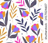 floral seamless pattern for... | Shutterstock .eps vector #1417024607
