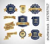 luxury gold badges and labels... | Shutterstock .eps vector #1417057517