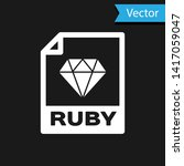 white ruby file document icon.... | Shutterstock .eps vector #1417059047