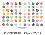 Set Of Colorful Watercolor Hand ...
