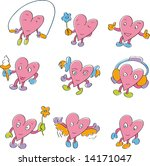 funny hearts set | Shutterstock .eps vector #14171047