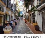 marbella  costa del sol  spain  ... | Shutterstock . vector #1417116914