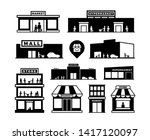 shopping mall buildings icons.... | Shutterstock . vector #1417120097