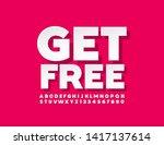 vector sale banner get free... | Shutterstock .eps vector #1417137614