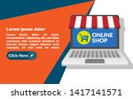 online shop   marketing... | Shutterstock .eps vector #1417141571
