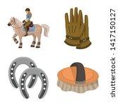 isolated object of horseback... | Shutterstock .eps vector #1417150127