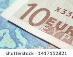 fragment of ten euro bills...   Shutterstock . vector #1417152821