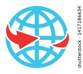 globe sign icon. world symbol.  | Shutterstock .eps vector #1417186634