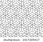 the geometric pattern with... | Shutterstock . vector #1417205417