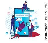 vector illustration social...