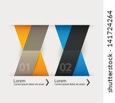 modern ribbon design template.... | Shutterstock .eps vector #141724264