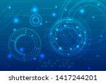 technology background in...   Shutterstock .eps vector #1417244201