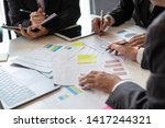business people meeting design... | Shutterstock . vector #1417244321