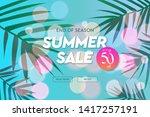 summer sale template  web... | Shutterstock .eps vector #1417257191