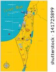 map of israel's sights | Shutterstock .eps vector #141725899