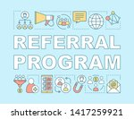 referral program word concepts...