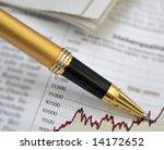 pen showing diagram on... | Shutterstock . vector #14172652