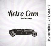 retro sport racing car  vintage ... | Shutterstock .eps vector #141726649