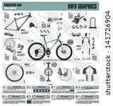 mountain bike info graphic... | Shutterstock .eps vector #141726904