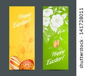 easter holiday set with two... | Shutterstock . vector #141728011
