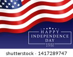 happy independence day   fourth ... | Shutterstock .eps vector #1417289747