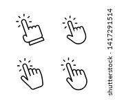 hands clicking icons collection.... | Shutterstock .eps vector #1417291514