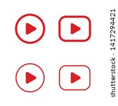 play button icon. video media... | Shutterstock .eps vector #1417294421