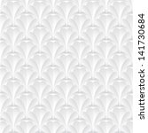3d geometric pattern. gray and... | Shutterstock .eps vector #141730684