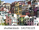 village manarola  5 terre  la... | Shutterstock . vector #141731125