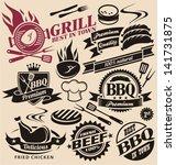 1940er jahre,1950s,1960er jahre,40 s,50er jahre,60er jahre,werbung,abzeichen,grill,rindfleisch,chef-hut,huhn,kochen,lecker,gericht