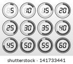 digital timer black and white | Shutterstock .eps vector #141733441