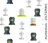 headstone  gravestone ... | Shutterstock .eps vector #1417339841