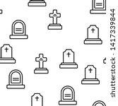 headstone  gravestone ... | Shutterstock .eps vector #1417339844