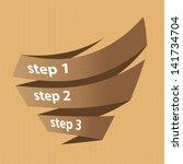 vector vintage paper progress... | Shutterstock .eps vector #141734704