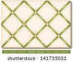 ribbon bulletin board. tuck... | Shutterstock . vector #141735031