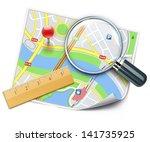 vector illustration of travel... | Shutterstock .eps vector #141735925