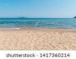 sandy beach and sea with clear...   Shutterstock . vector #1417360214