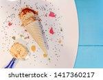 hazelnut flavor ice cream cone...   Shutterstock . vector #1417360217