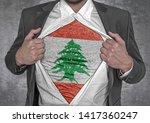 business man show t shirt flag...   Shutterstock . vector #1417360247