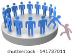 helping hand member to join up... | Shutterstock . vector #141737011